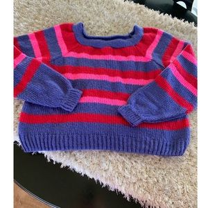 NWT Asos Striped Cropped Sweater Size 14